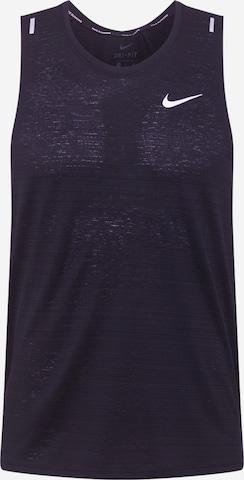 melns NIKE Sporta krekls 'Miler'