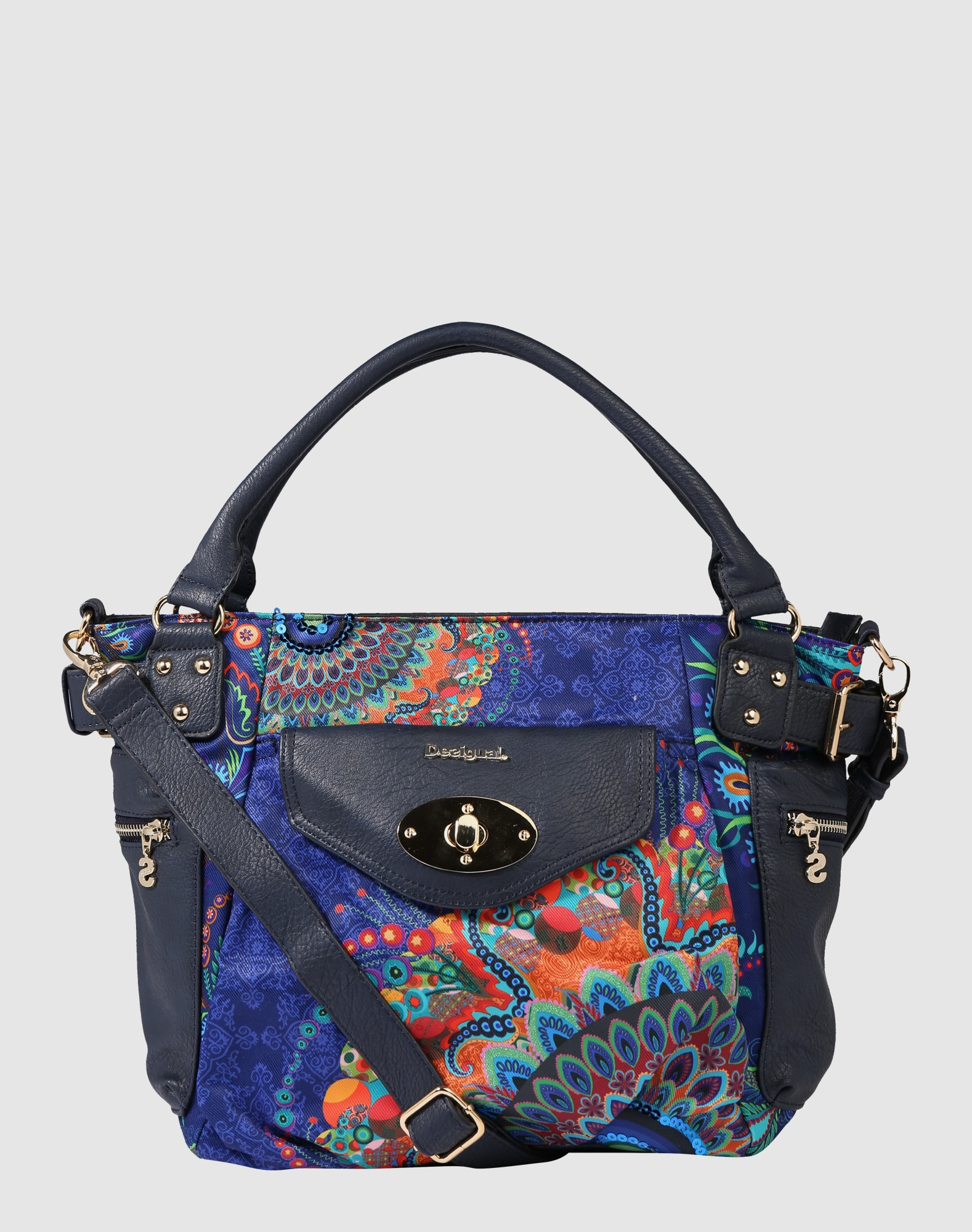 desigual handtasche 39 mcbee atenas 39 in blau about you. Black Bedroom Furniture Sets. Home Design Ideas