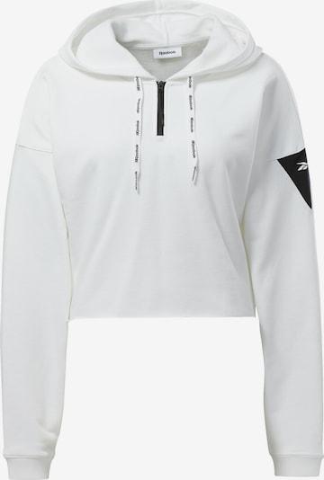 REEBOK Sweat de sport en noir / blanc, Vue avec produit