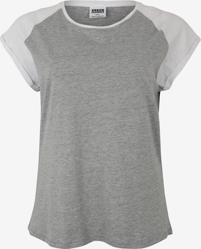 szürke Urban Classics Curvy Póló 'Ladies Contrast Raglan Tee', Termék nézet