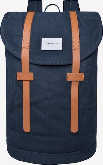 SANDQVIST Plecak 'STIG LARGE II' w kolorze granatowy / brązowym, Podgląd produktu