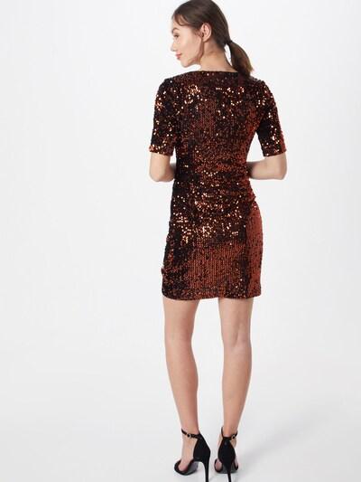 PIECES Sukienka 'PCJUDIE SS SEQUINS DRESS' w kolorze brąz / czarnym: Widok od tyłu