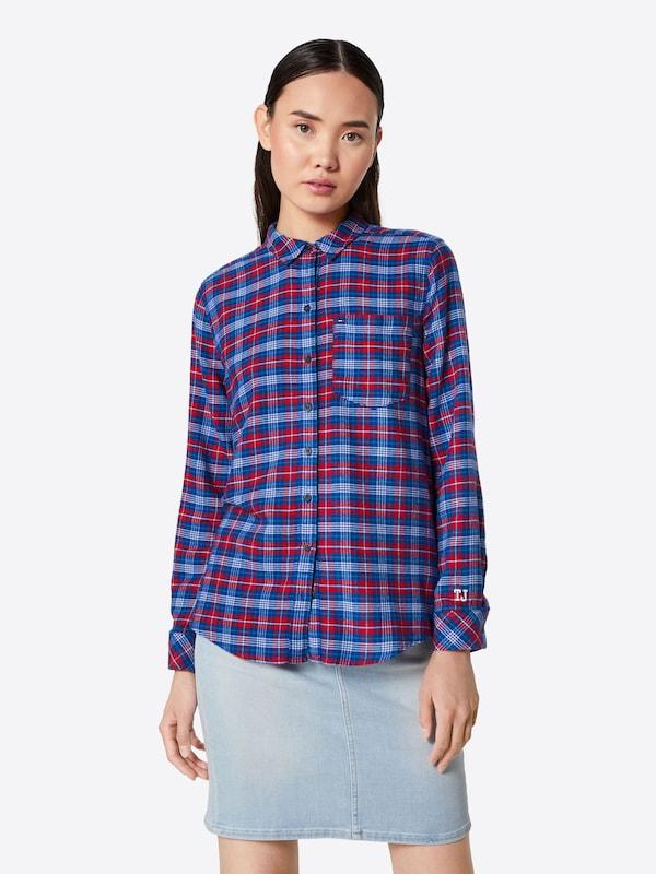Check Shirt' Chemisier En Tommy Jeans Regular 'tjw BleuRouge 5RcAj34Lq