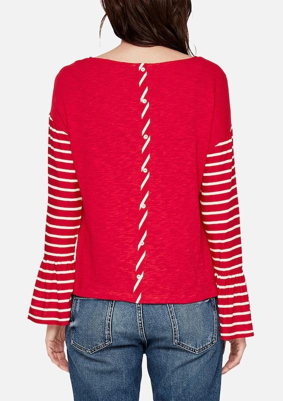 s.Oliver RED LABEL Volant-Shirt mit gestreifter Front