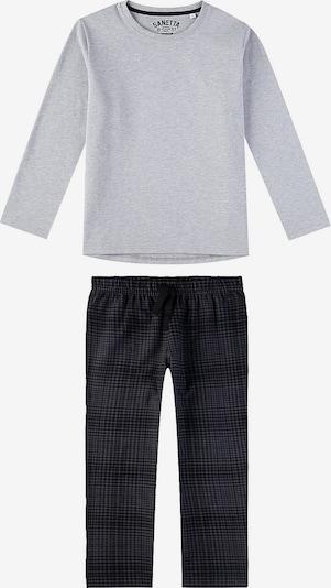 SANETTA Schlafanzug in grau: Frontalansicht