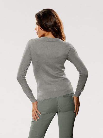 heine Strickjacke in graumeliert: Rückansicht