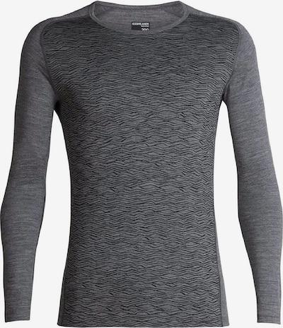 Icebreaker Shirt '200 Oasis Deluxe LS C' in graumeliert / schwarz, Produktansicht