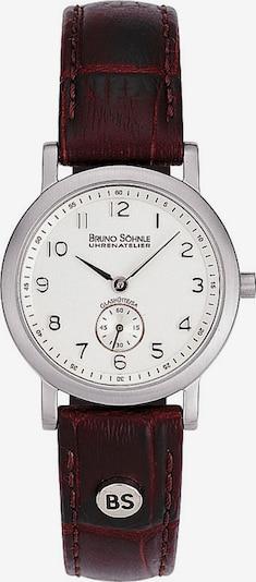 Bruno Söhnle Uhr 'Pisa' in weinrot / silber / naturweiß, Produktansicht