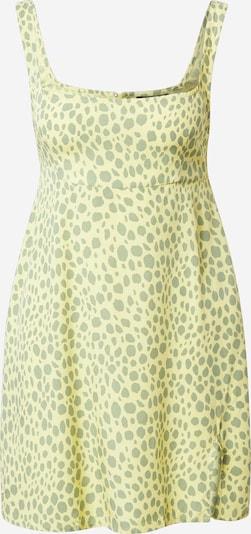 Motel Letné šaty 'LITA' - žltá / neónovo zelená: Pohľad spredu