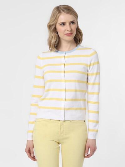 Marie Lund Strickjacke in gelb / weiß, Modelansicht