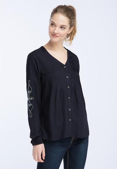 DREIMASTER Bluse in kobaltblau, Modelansicht