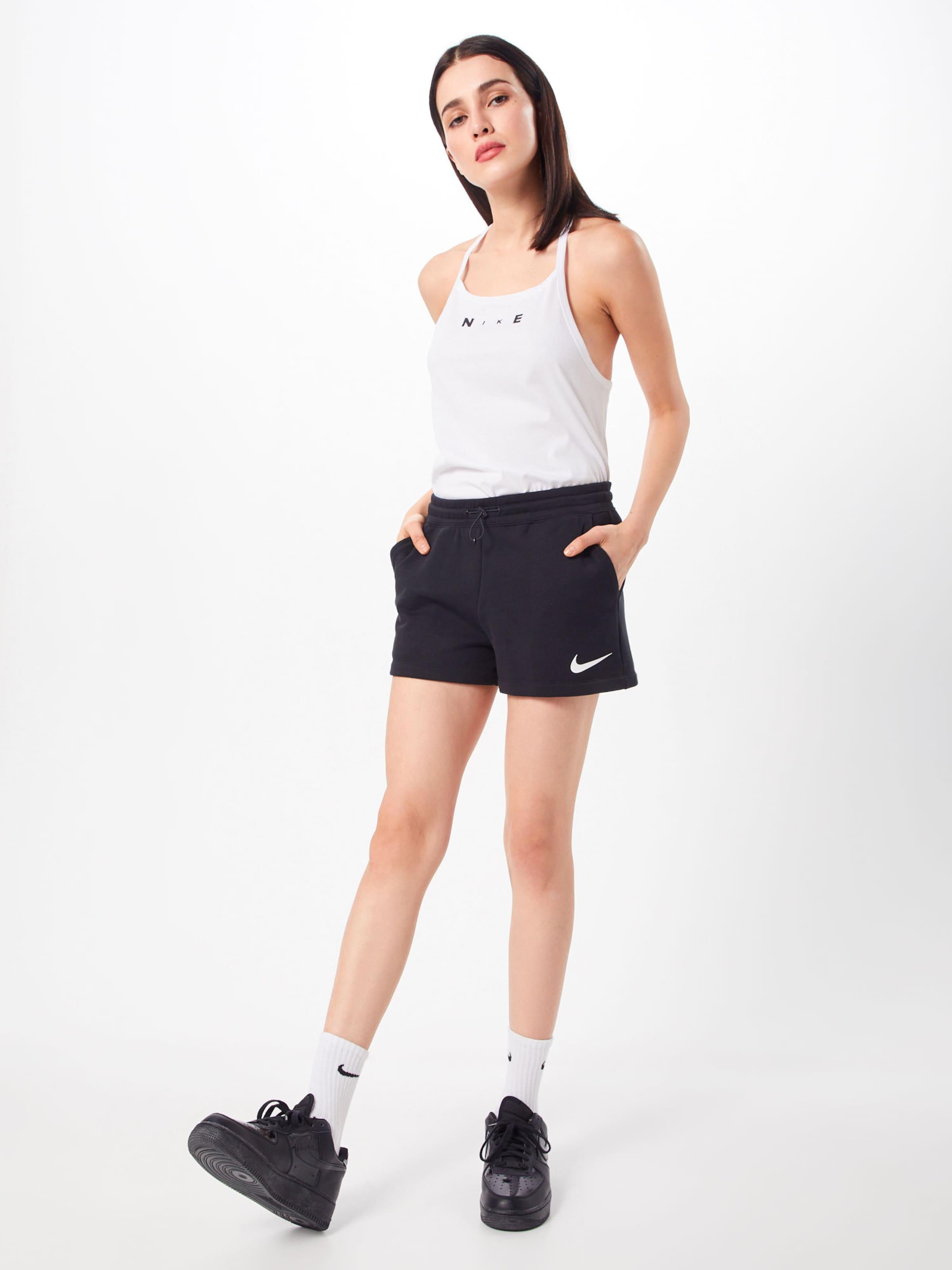 Nsw Swsh 'w En Sportswear Short Pantalon Nike Ft' Noir 29DHIE