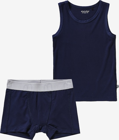MINYMO Unterhemd und Underhose Set in blau / grau, Produktansicht