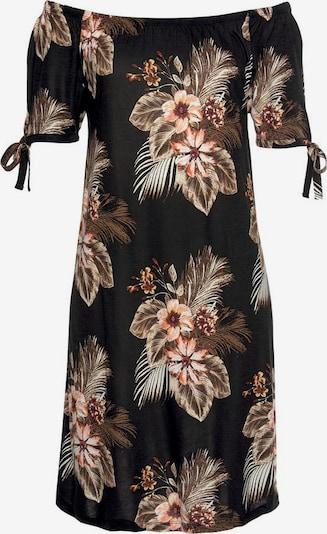 BEACH TIME Kleid in hellbeige / braun / rostbraun / schwarz, Produktansicht