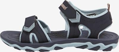 Hummel Sandalen in hellblau / schwarz, Produktansicht