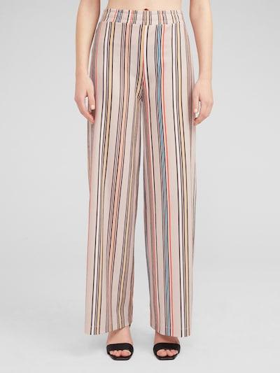 Pantaloni 'Cyra' EDITED pe bej / culori mixte, Vizualizare model
