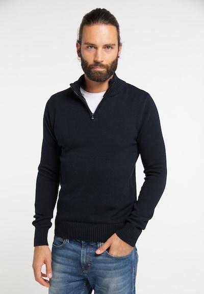 DREIMASTER Pullover in blau: Frontalansicht