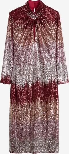 MANGO Kleid 'Luisa-a' in gold / karminrot / silber, Produktansicht