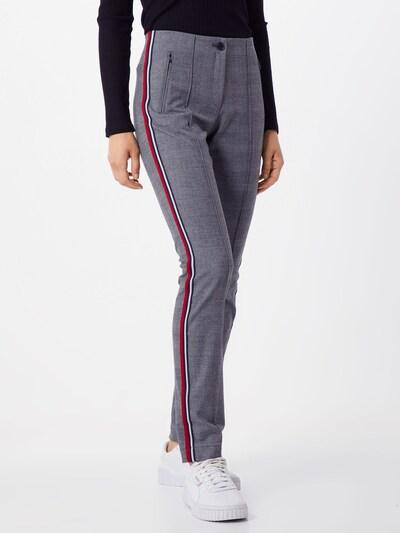 Pantaloni 'Mills' BRAX pe gri metalic / roșu, Vizualizare model