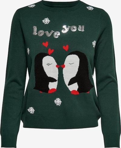 ONLY Sweter w kolorze zielony / czerwony / czarny / białym, Podgląd produktu