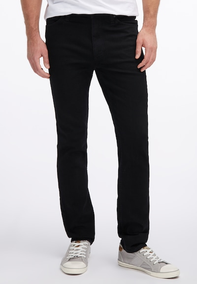 MUSTANG Hose 'Tramper Tapered' in black denim: Frontalansicht