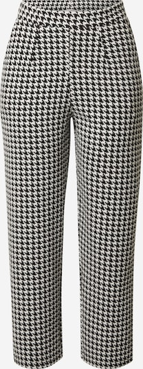 Guido Maria Kretschmer Collection Pantalón plisado 'Marie' en negro / blanco, Vista del producto