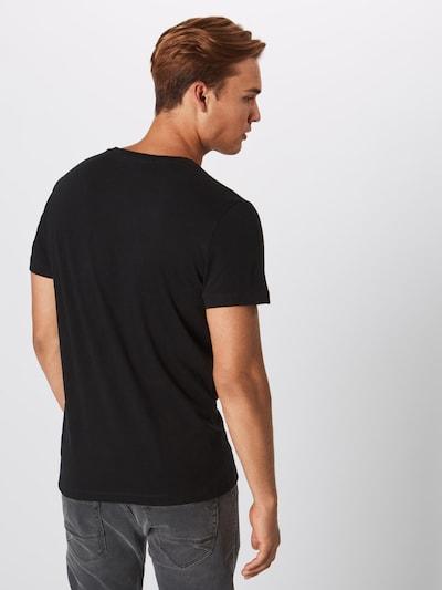 Calvin Klein Jeans T-Shirt 'Core Institutional Logo Slim Tee' in schwarz / weiß: Rückansicht