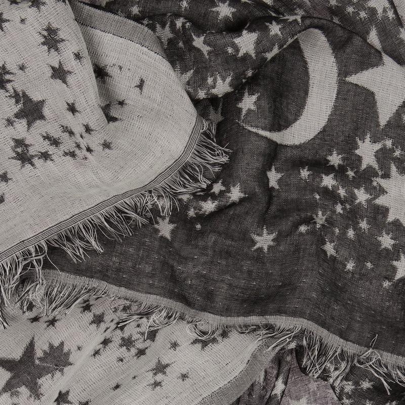 CODELLO Jacquard-Schal mit Sternhimmel-Muster
