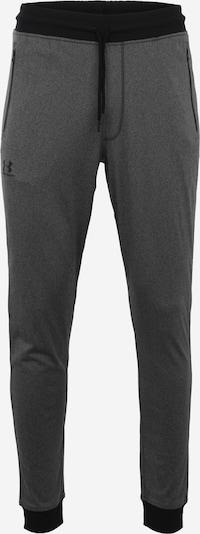 UNDER ARMOUR Sporthose in graumeliert / schwarz: Frontalansicht