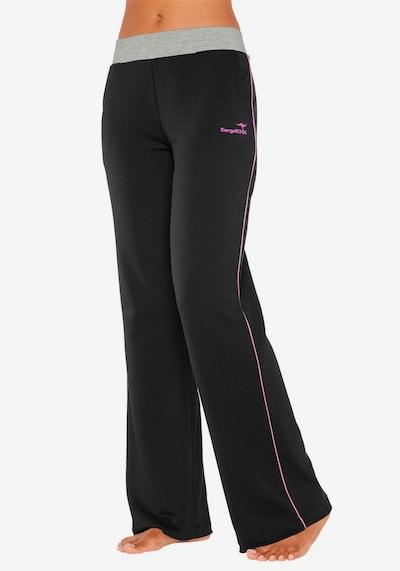 KangaROOS Hose in pink / schwarz, Modelansicht