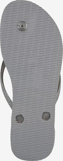HAVAIANAS Slipper 'Glitter' in grau / silbergrau: Ansicht von unten