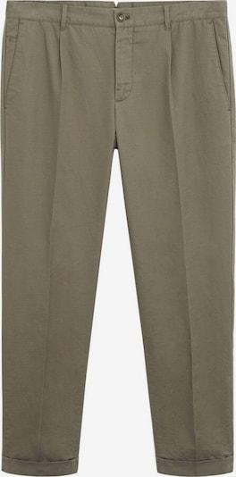 MANGO MAN Kalhoty 'vibes' - khaki: Pohled zepředu