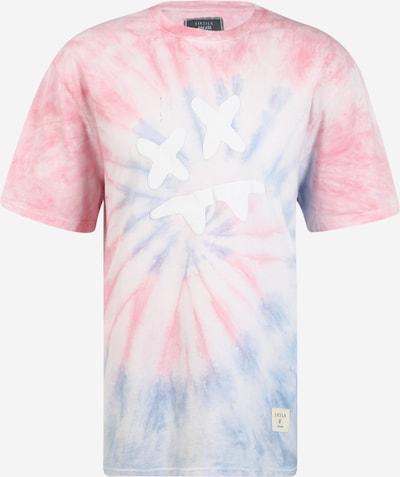 SikSilk T-Shirt 'Steve Aoki' in hellblau / hellpink / weiß, Produktansicht