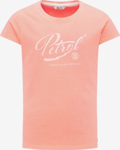 Petrol Industries T-Shirt in koralle / weiß, Produktansicht