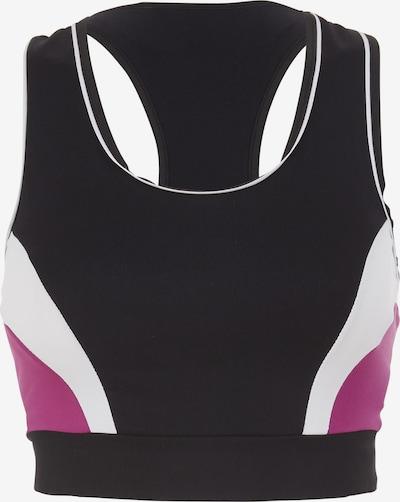 KAMAH Active Soft-bra 'ruby' in fuchsia / schwarz / weiß, Produktansicht