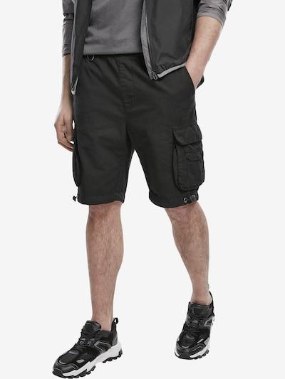 Pantaloni cu buzunare Urban Classics pe negru, Vizualizare model