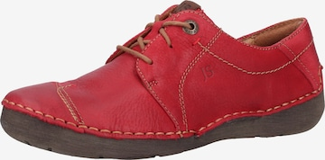 JOSEF SEIBEL Lace-Up Shoes 'Fergey' in Red