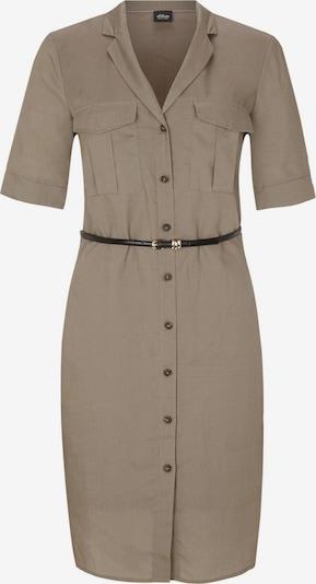 s.Oliver BLACK LABEL Kleid in hellbraun, Produktansicht
