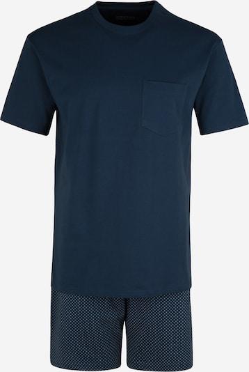 SCHIESSER Pyjama court en bleu foncé / gris chiné, Vue avec produit