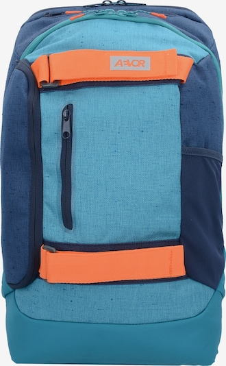 AEVOR Rucksack in blau / hellblau / mandarine, Produktansicht