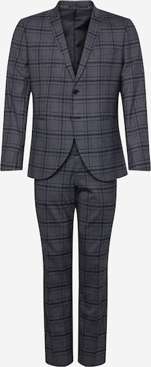 SELECTED HOMME Anzug 'SLHSLIM-PEAKPEKA DK GREY CHECK SUIT B EX' in dunkelgrau, Produktansicht