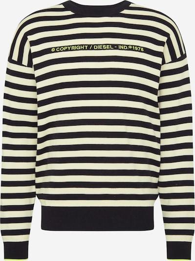 DIESEL Pull-over 'SLASSH' en jaune / noir / blanc, Vue avec produit