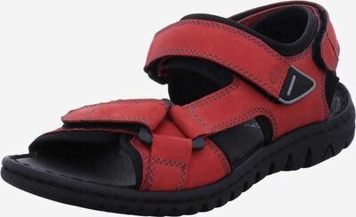 JOSEF SEIBEL Outdoorsandale 'Lucia' in rot / schwarz, Produktansicht