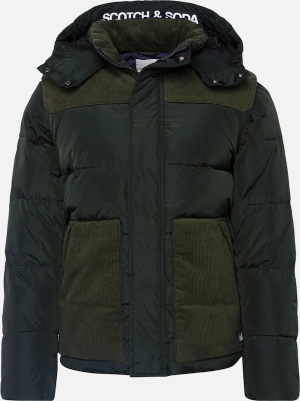 SCOTCH & SODA Winterjas 'Quilted jacket with' in de kleur Kaki, Productweergave