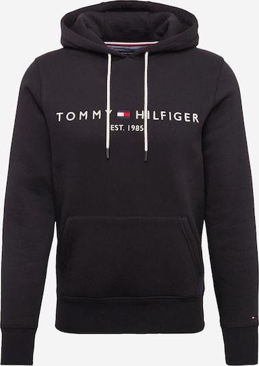 TOMMY HILFIGER Sweat-shirt en noir / blanc, Vue avec produit