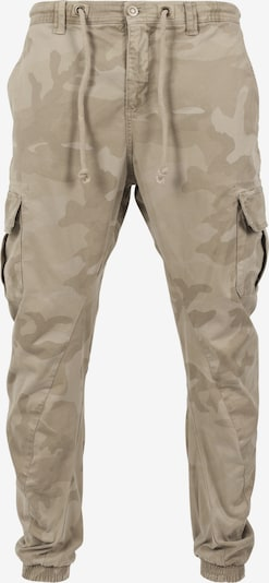 Urban Classics Camo Cargo Jogging Pants in beige / sand / hellbeige: Frontalansicht