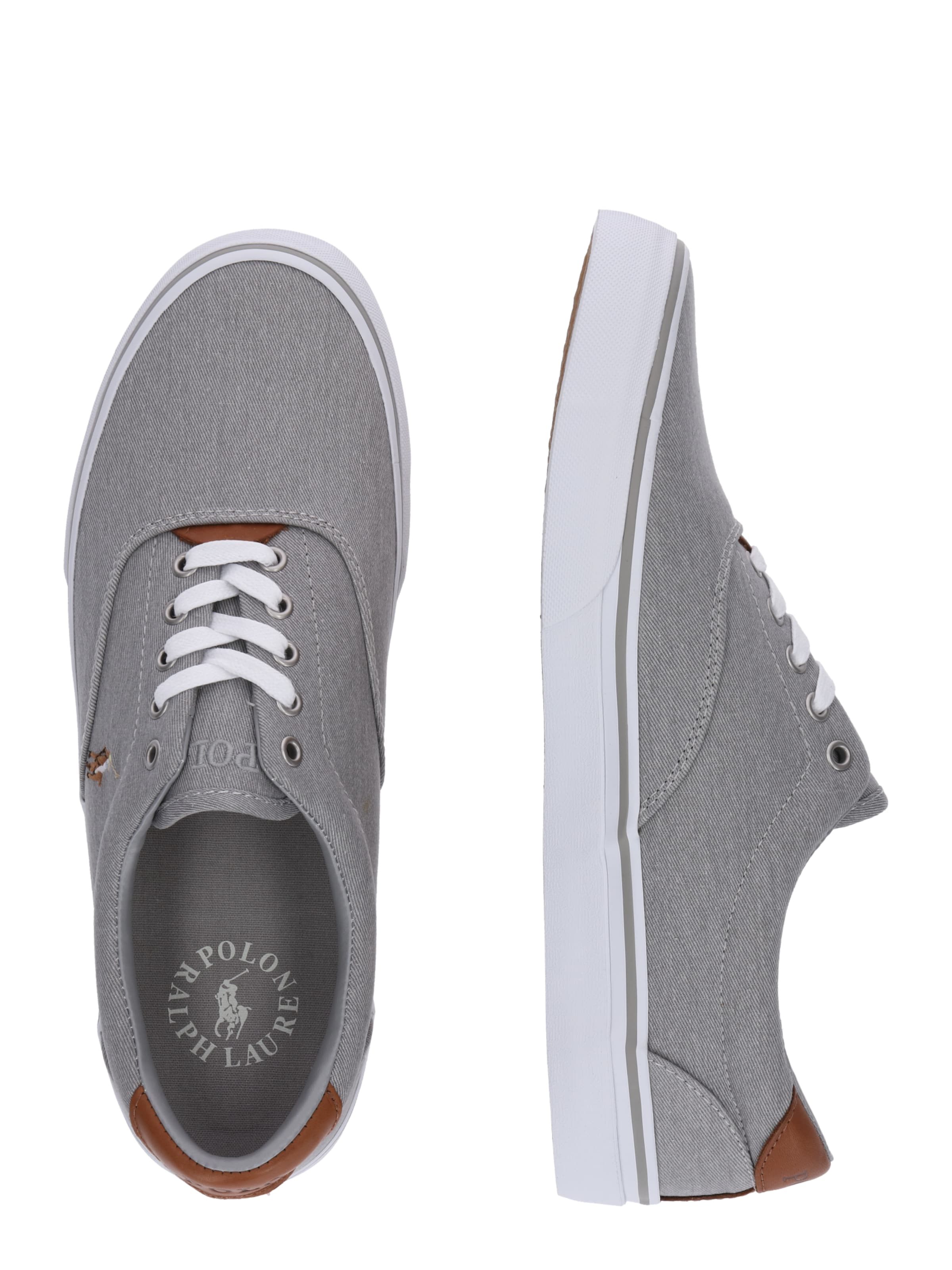 Polo Ralph Washed Twill' Grau Lauren Sneaker In 'thorton dQCoreWxB