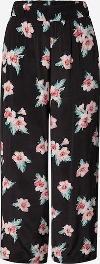 Pantaloni Tally Weijl pe verde / roz deschis / negru: Privire frontală
