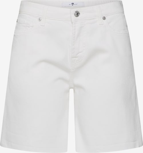 7 for all mankind Jeans 'BOY SHORTS COLORED TWILL' in de kleur White denim, Productweergave