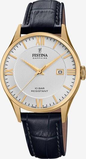 FESTINA Uhr 'Swiss Made Collection, F20010/2' in gold / schwarz / weiß, Produktansicht